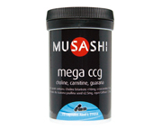 MUSASHI MEGA CCG CHOLINA-CARNITINA-GUARANA 1115 MG 75 CAPS